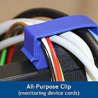Patient-Tube-Organizer - All Purpose Tube and Cord Clip