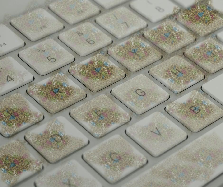 germs keyboard visible simulation