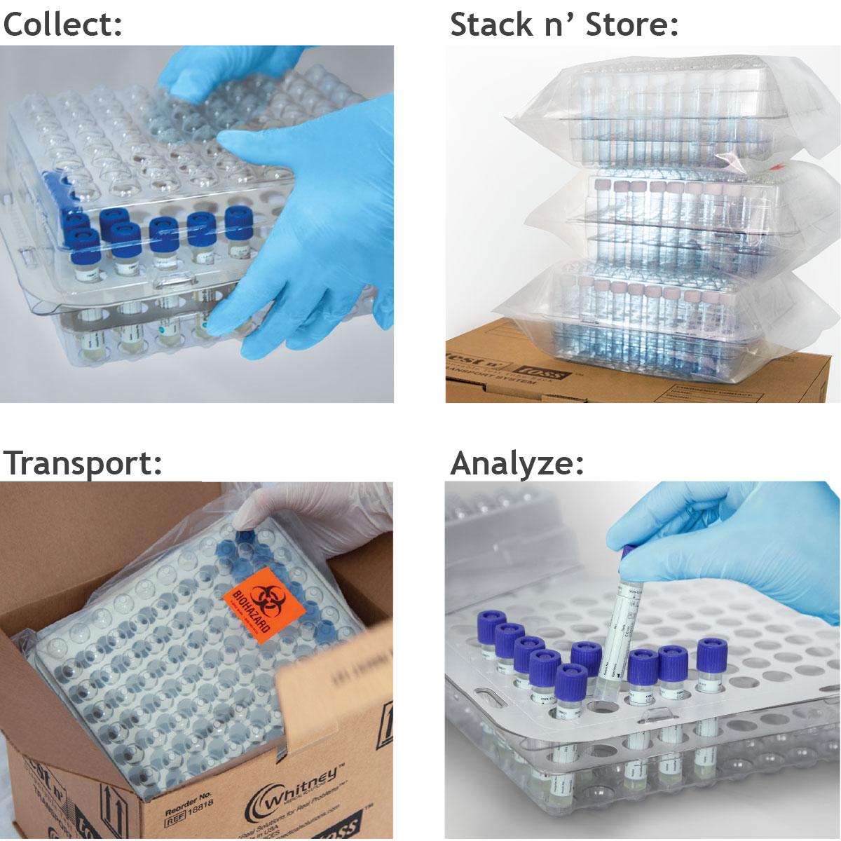 Test Tube Rack Specimen Collect Stack Transport Analyze