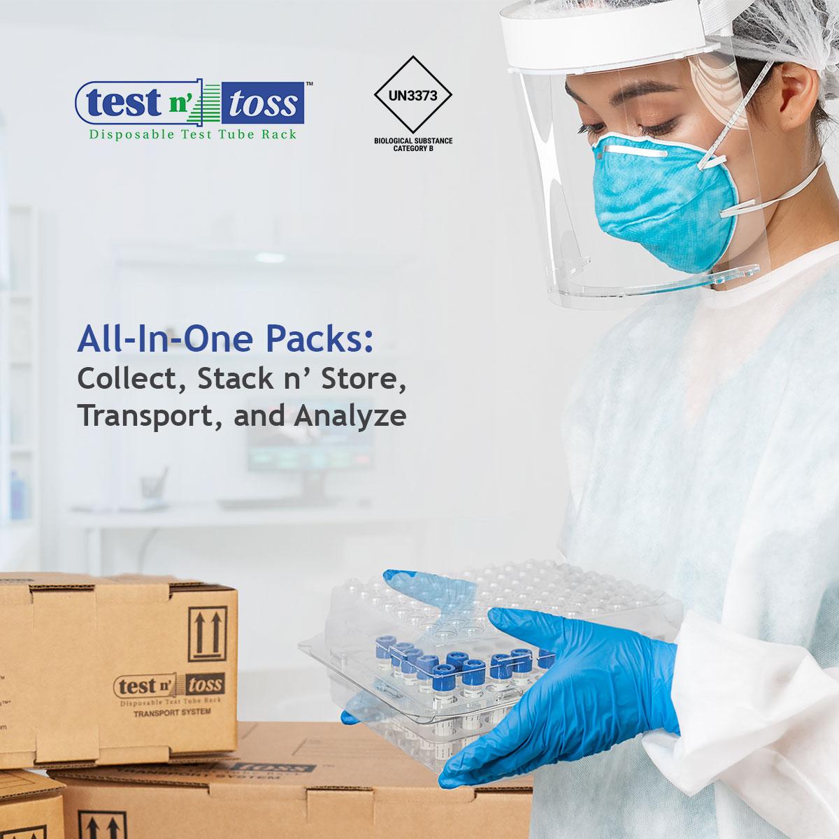 Test Tube Rack Lab Sample Shipping