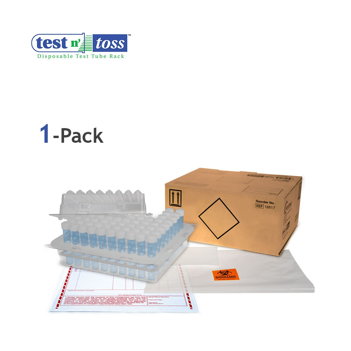 18821 Test Tube Lab Sample Shipping Pack