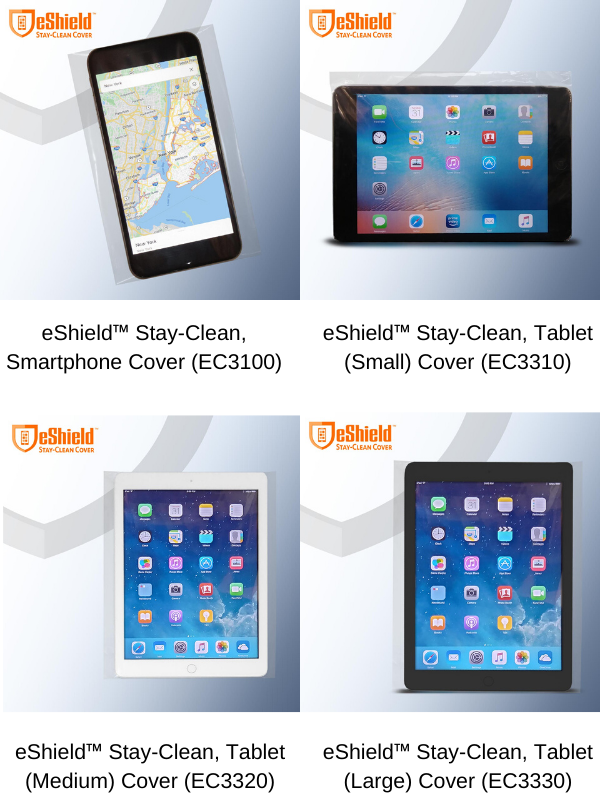 Prevent germ spread on high touch surfaces with eShield Stay Clean Covers