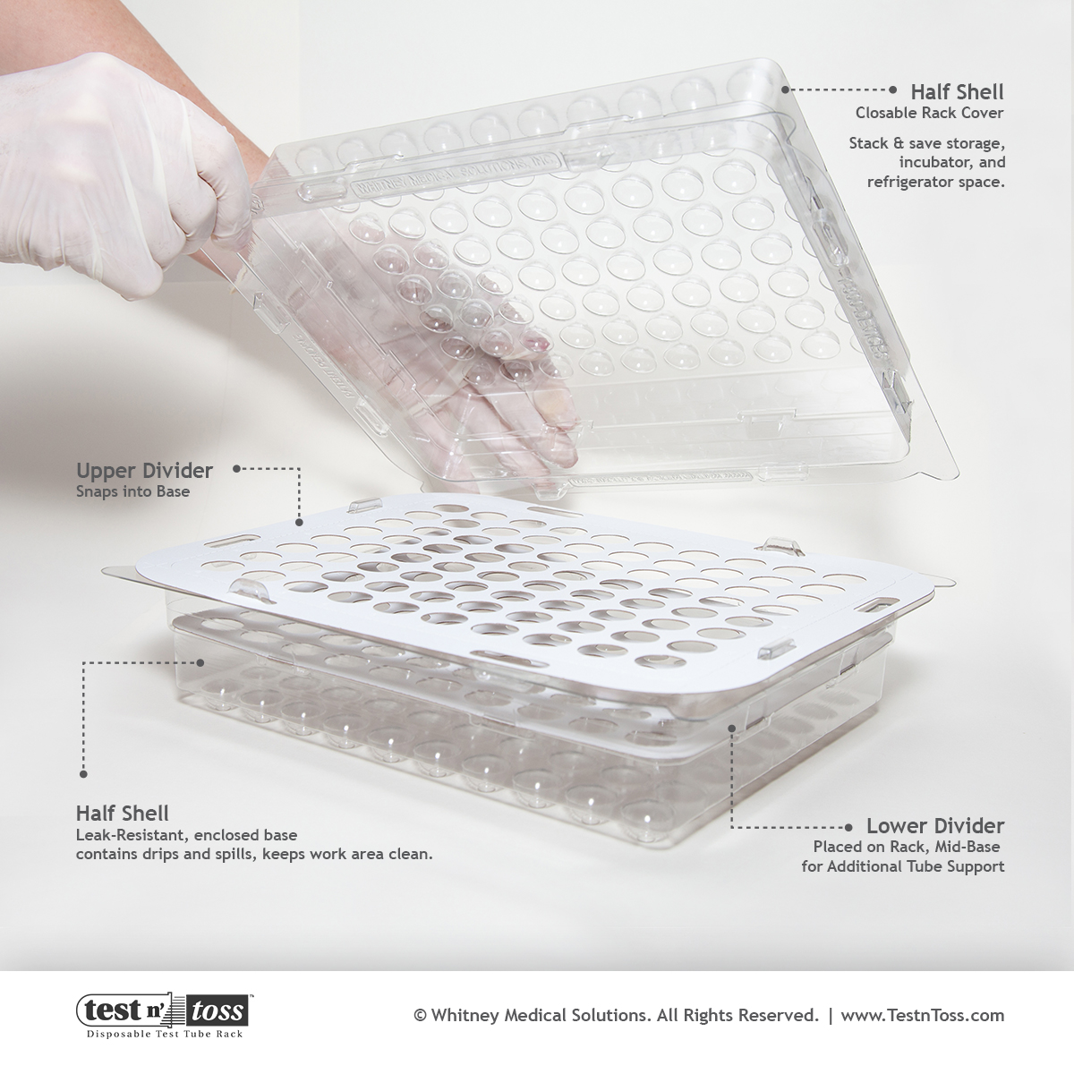 Disposable Lab Sample Test Tube Rack