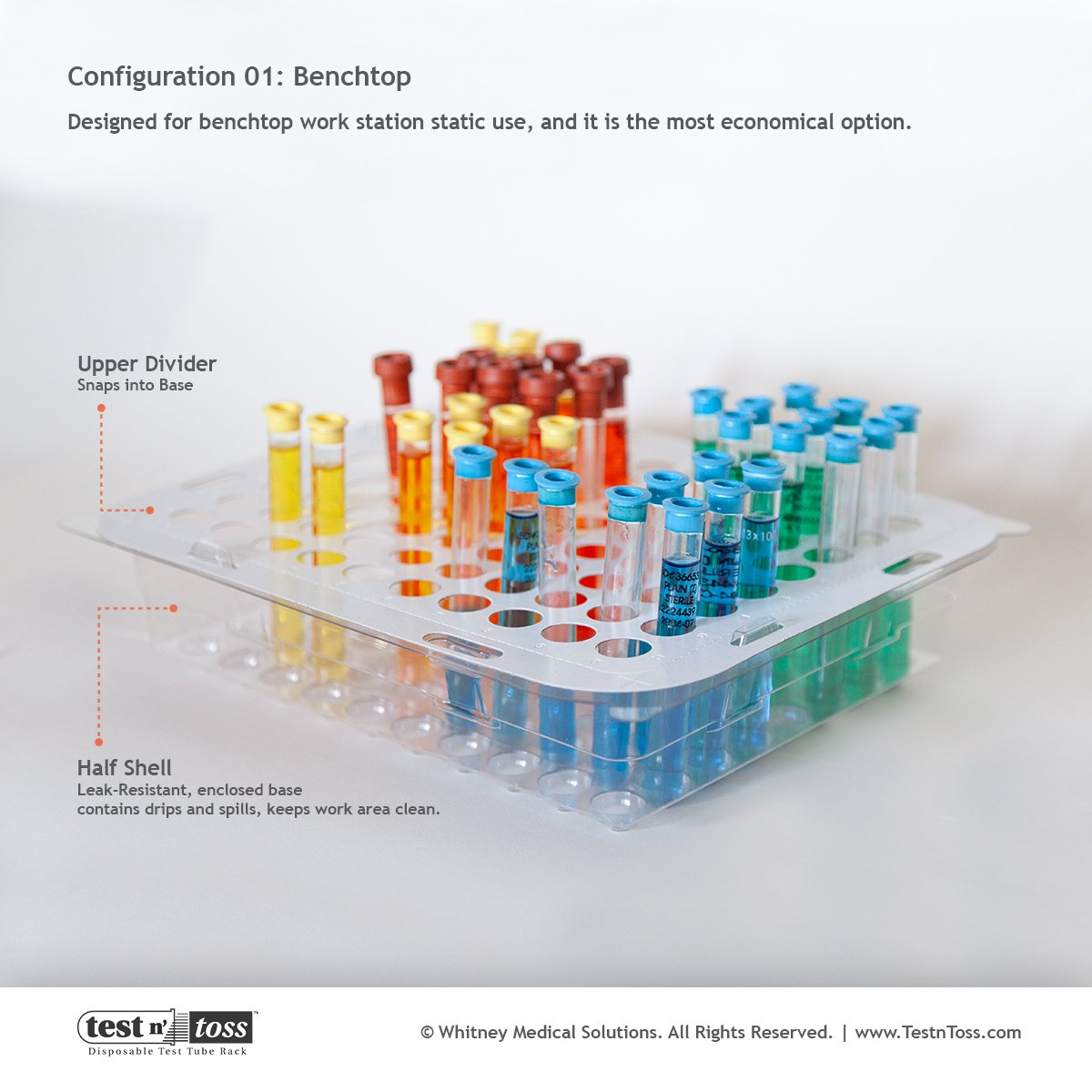 Bench top Work Station Test Tube Rack
